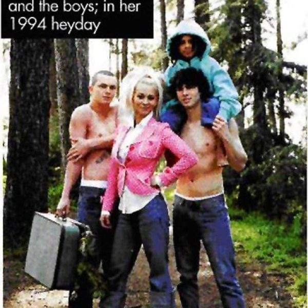 Susan Powter with her three boys